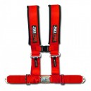 3 Inch 4 Point Red 50 Caliber Racing Safety Harness