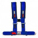 3 Inch 4 Point Blue 50 Caliber Racing Safety Harness
