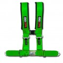 3 Inch 4 Point Green 50 Caliber Racing Safety Harness